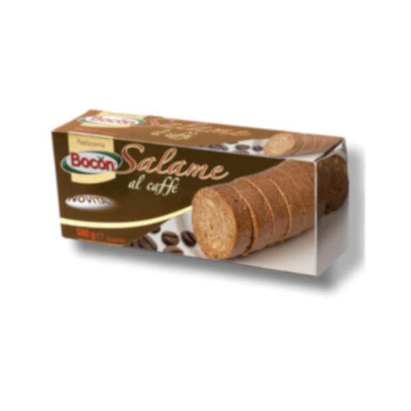 confezione del salame al caffè, con immagine rappresentativa sul fronte
