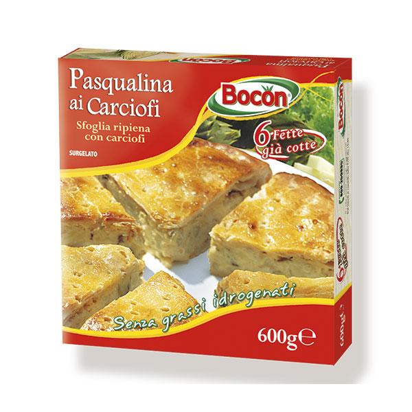 confezione Pasqualina ai carciofi in formato cartoncino