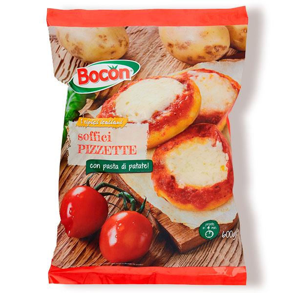 confezione di pizzette al gusto margherita