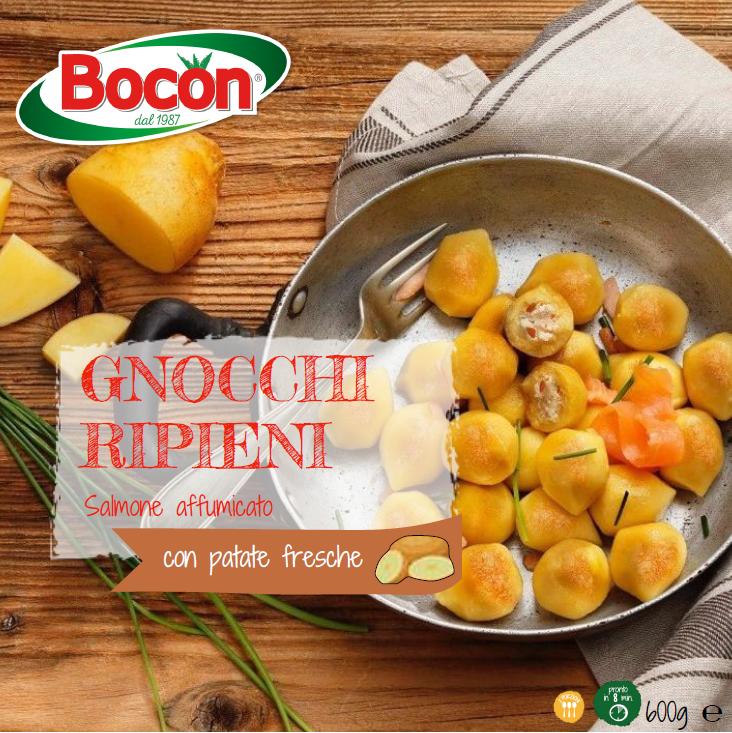 Ricetta Gnocchi Ripieni Di Salmone.Gnocchi Ripieni Al Salmone Bocon